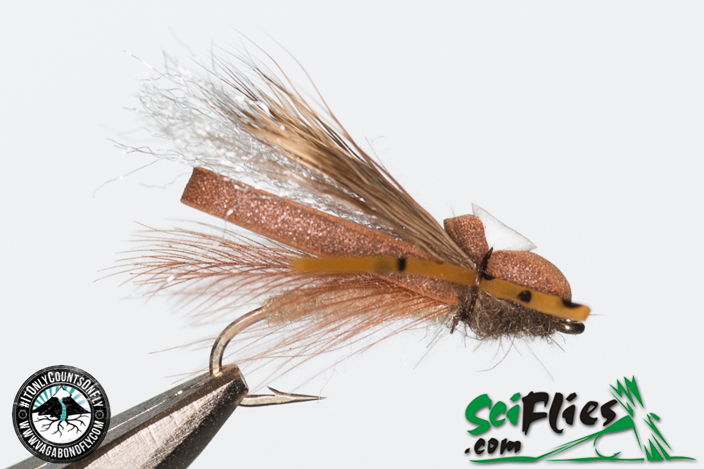 Foam Wing Hopper - Brown