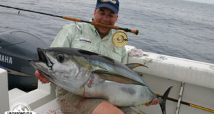 I'm not just a yellowfish and trout guy.  I really enjoy hooking fish that could put me in the hospital, like this yellowfin tuna